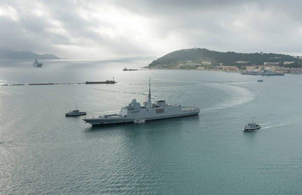 La FREMM Normandie au port de Toulon - photo Marine Nationale