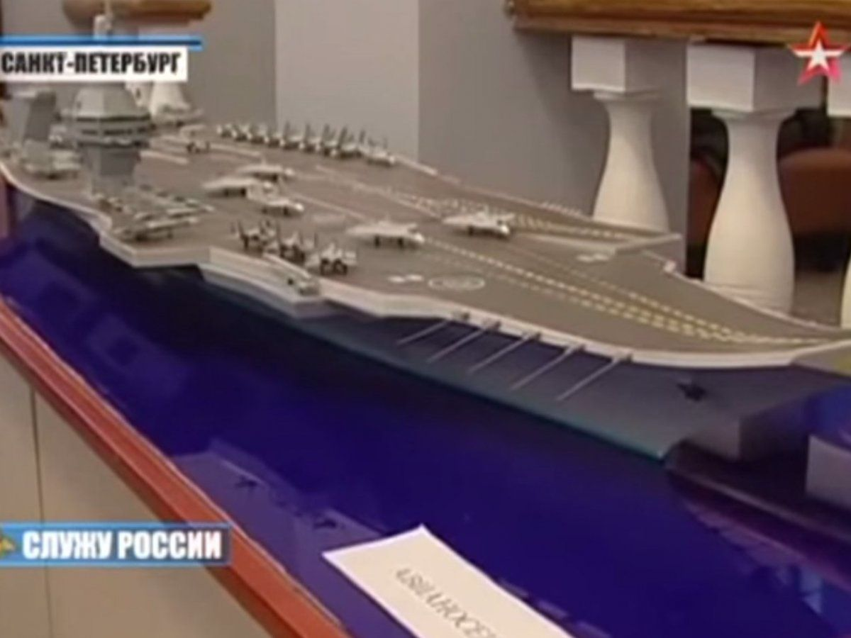 Russia claims it's in the early stages of developing an aircraft carrier that can hold 100 planes