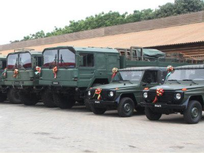 Ghana's military receives donated equipment from Germany