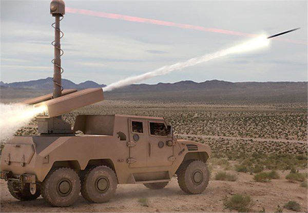 TALON LGR, Anti-tank Missile - NIMR 6x6 - photo Raytheon