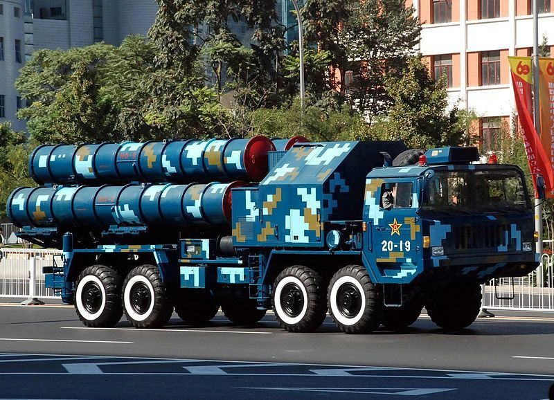 Chinese S-300 (HongQi 9 [HQ-9]) launcher during China's 60th anniversary parade, 2009. photo Jian Kang