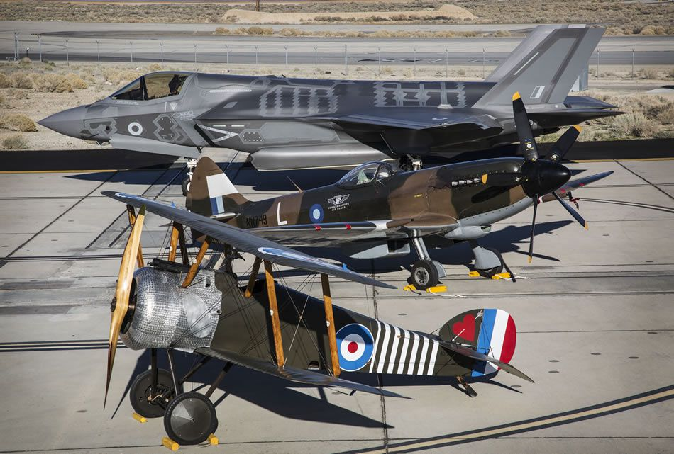 Lightning II, Spitfire and Camel