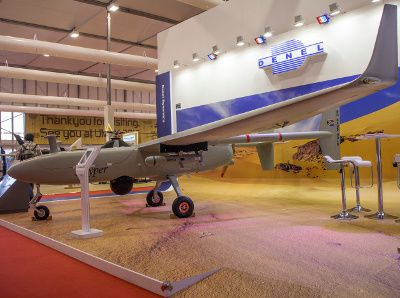 Weaponised Seeker 400 at IDEX 2015 Picture Sam Basch - defenceWeb