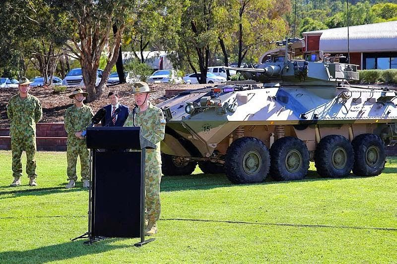 Australian Light Armoured Vehicle in Puckapunyal, Victoria