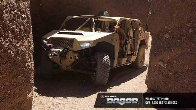 The Dagor off-road vehicle. Photo by Polaris Defense