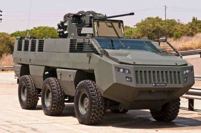 The Mbombe 6x6 armored vehicle to be assembled in Jordan for its military. Photo: Paramount Group