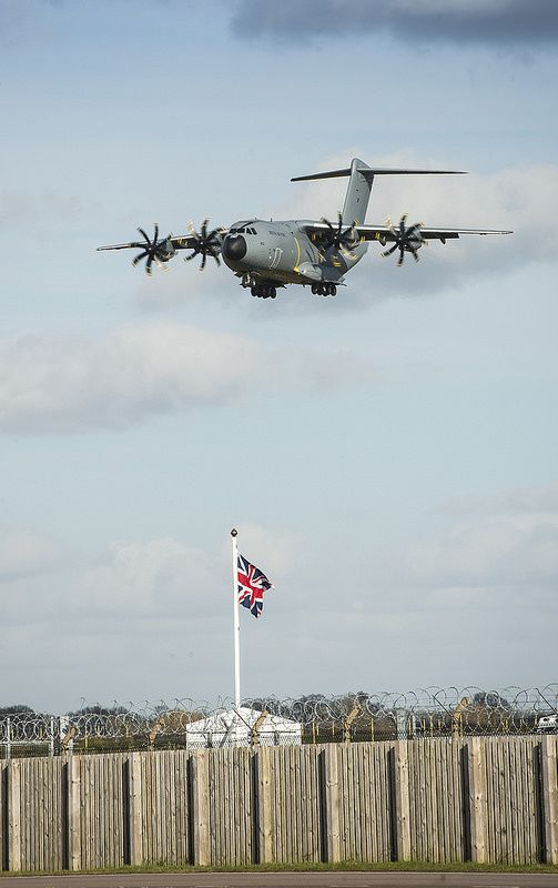 Arrivée du second A400M à Brize Norton - Photo : Steve Lympany - RAF Brize Norton