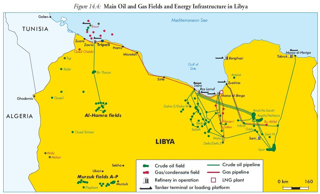 Libya - oil gas fields (weo 2005)