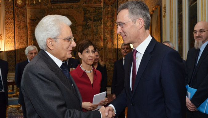 NATO and Italy discuss how Alliance is adapting to face threats from east and south