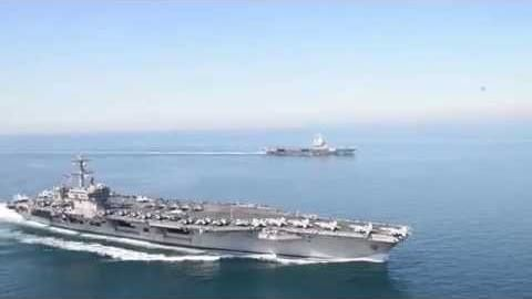 USS Carl Vinson &amp&#x3B; FS Charles de Gaulle in the Northern Arabian Gulf
