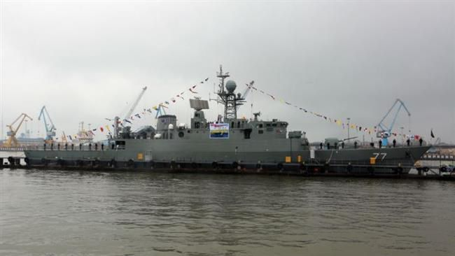 Damavand destroyer joins the Navy's northern fleet in the Caspian Sea on Monday March 9, 2015
