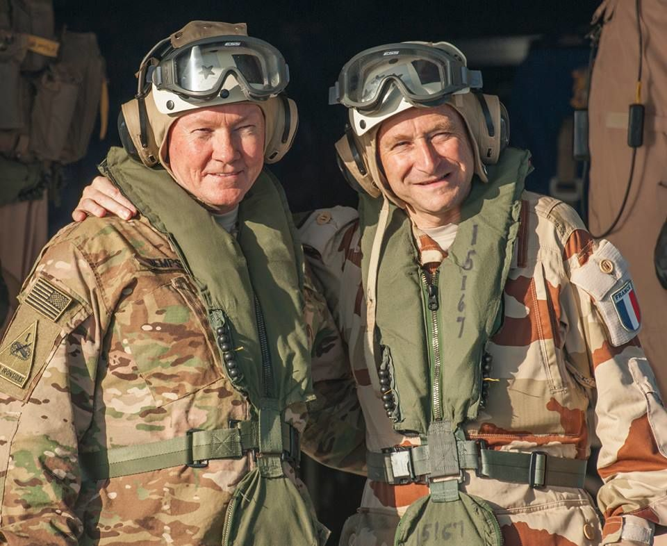 Chairman JCS General Dempsey visits the French Aircraft Carrier Charles de Gaulle (R91)