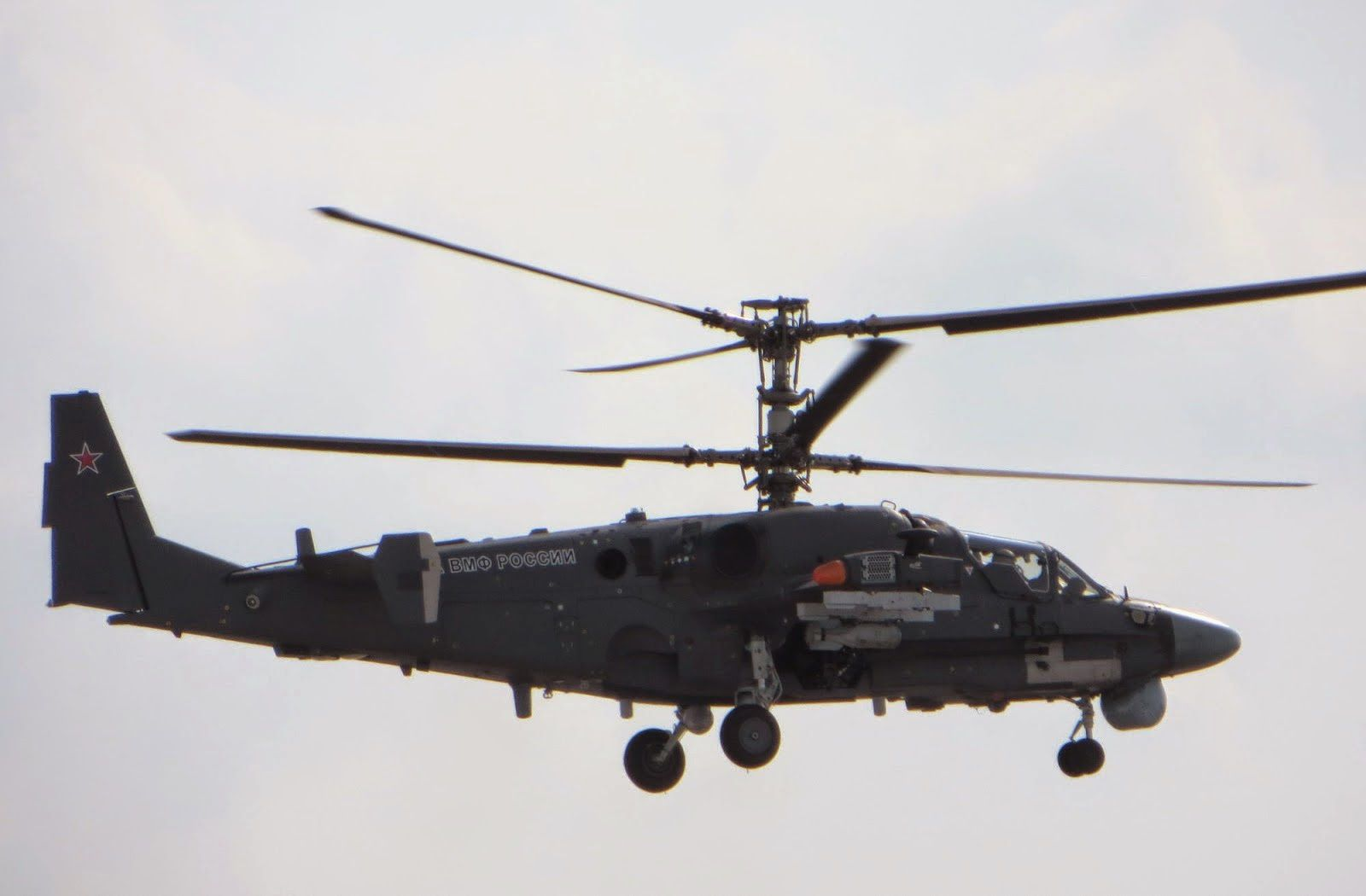 Russian Navy new Ka-52K Hokum B Naval Attack Helicopter Conducted its First Test Flight
