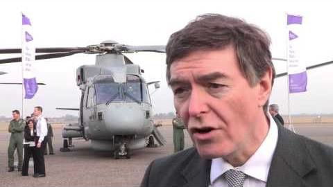 Helicopter Capability: Defence Minister Philip Dunne at RAF Benson