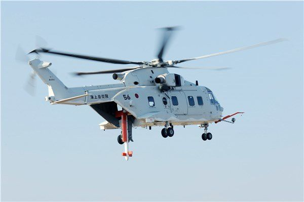 1st Airborne Mine Counter Measures MCH-101 Delivered to the Japan Maritime Self Defense Force