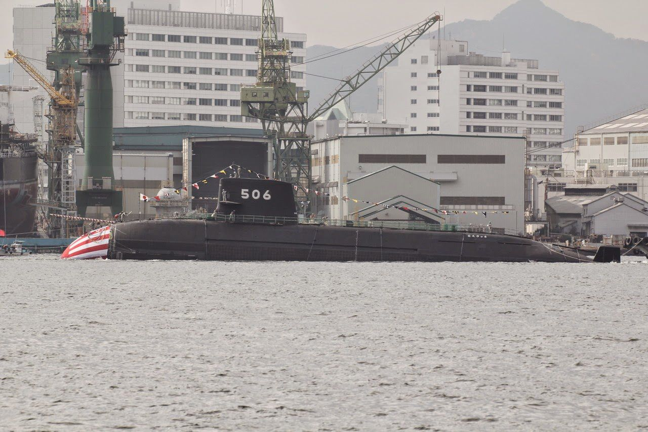 The 6th Soryu-class SSK, SS-506 Kokuryu, (meaning Black Dragon) of the Japan Maritime Self-Defense Force.