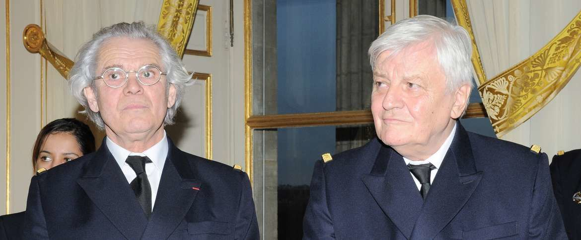 François Legrand et Jacques Perrin Photo Patrice Donot -Marine nationale