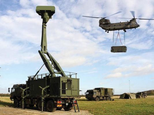The Giraffe radar is part of the British Army Land Environment Air Picture Provision system.(Photo Lockheed Martin)