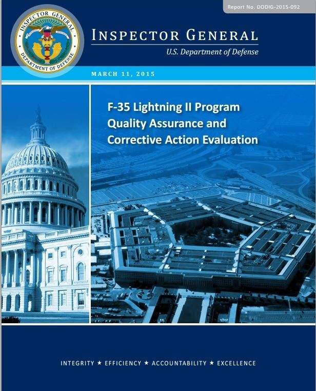 F-35 Lightning II Program Quality Assurance and Corrective Action Evaluation