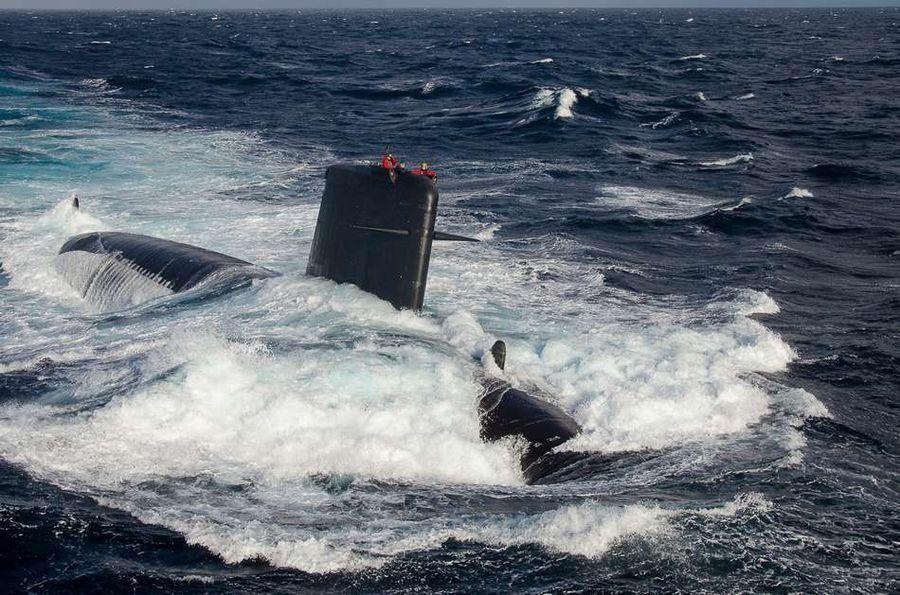 Le SNA Saphir - photo S. Richard 32F-Marine Nationale