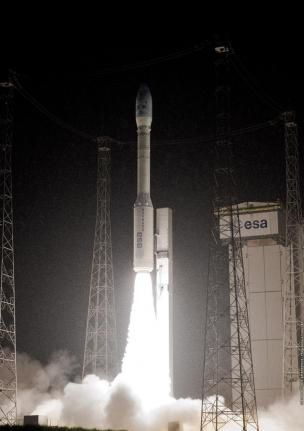 A Vega launch vehicle takes flight. Photo: Arianspace