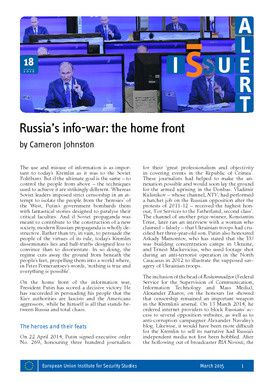 Russia's info-war: the home front