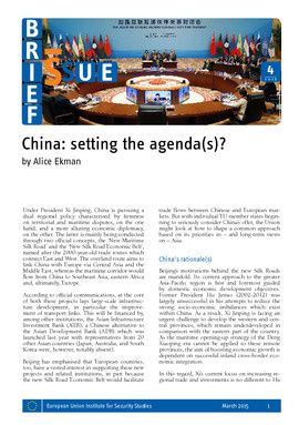China: setting the agenda(s)?