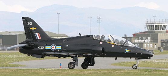 Hawk T1 jet trainer 208 Sqn - photo Royal Air Force