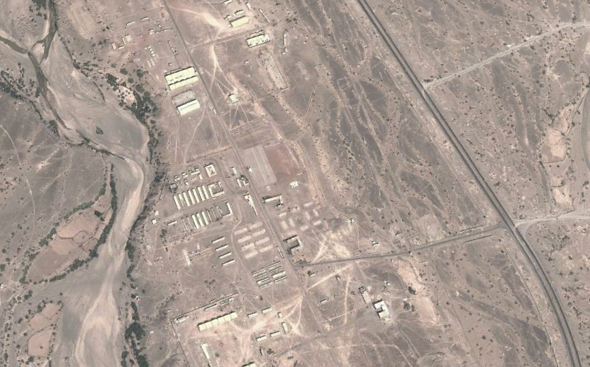 Al-Anad base located in Lahj province in southern Yemen (picture credit Google Maps)