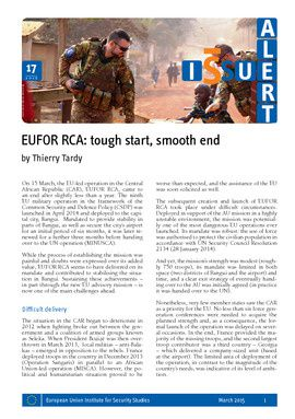 EUFOR RCA: tough start, smooth end