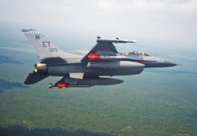 F-16C B61 Mod 12 test flight (early 2015) - photo USAF