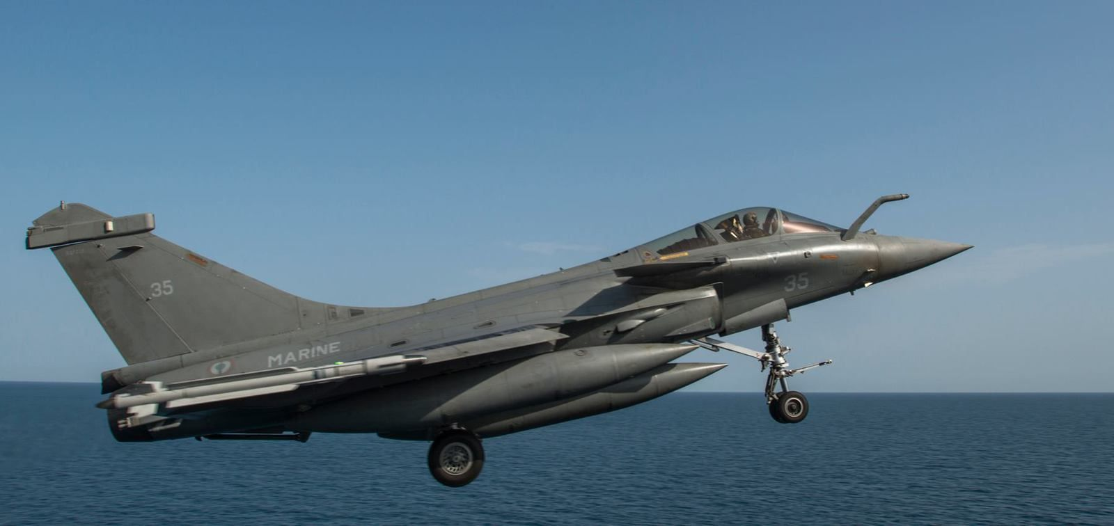 A French Rafale Marine Flotille 11F - carrier qualifications aboard the USS Carl Vinson photo US Navy