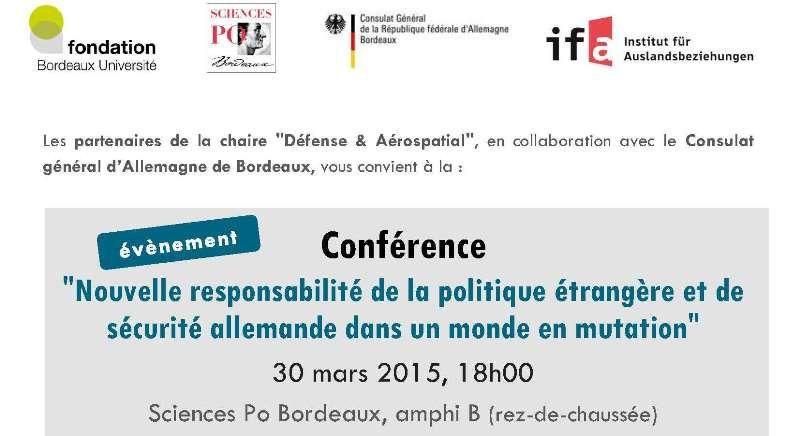 Séminaire sur la Politique internationale allemande à Sciences Po Bordeaux