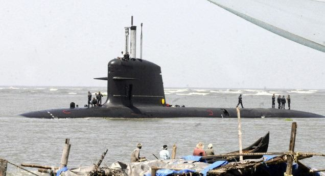 Scorpene-class submarine. File photo