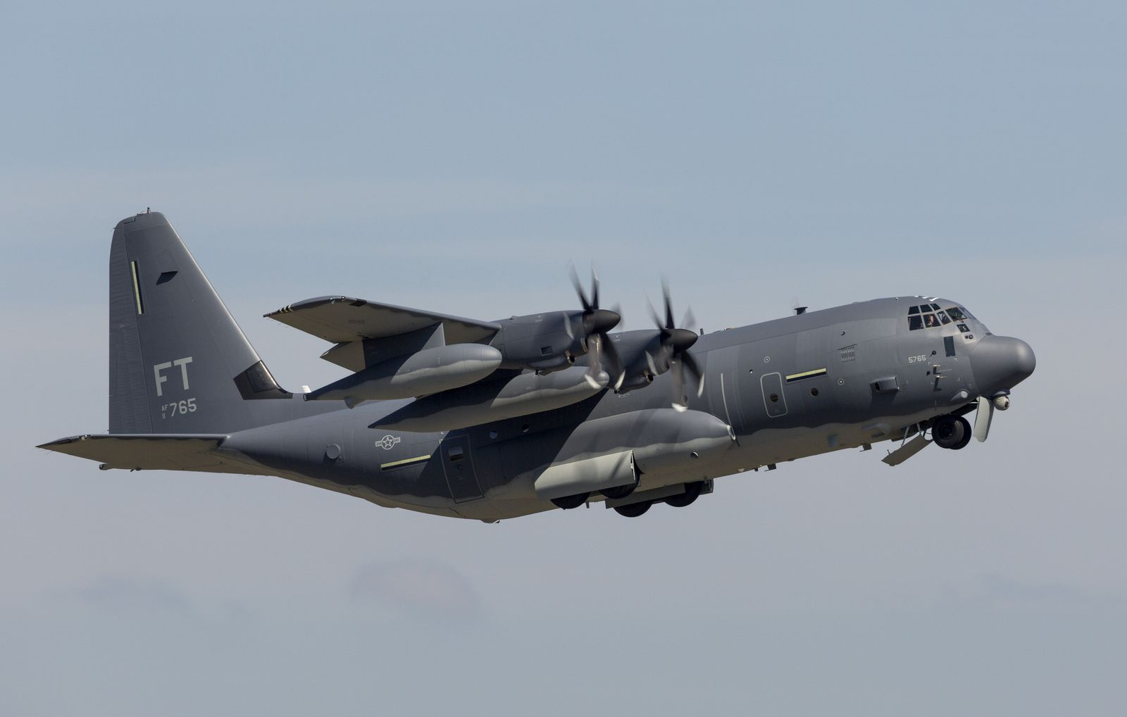USAF HC-130J Combat King II personnel recovery aircraft – photo Todd R. McQueen LM