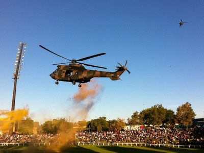 A SAAF Oryx at the Rand Show 2012