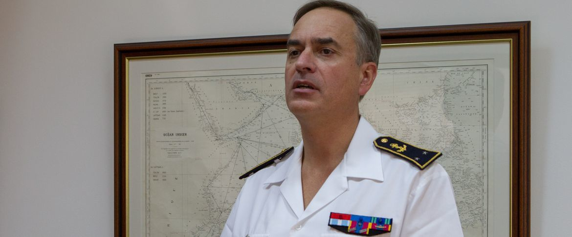 CA A. Beaussant, commandant de la zone maritime océan Indien (ALINDIEN).photo Marine Nationale
