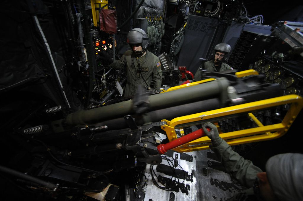 An AC-130U's 105 mm cannon - photo USAF