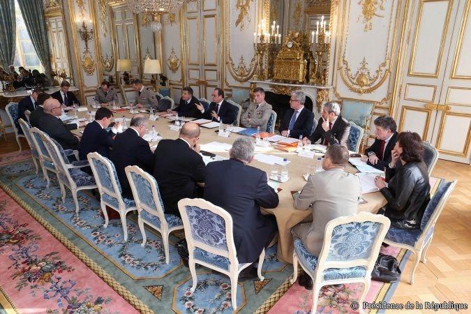 Conseil de défense (archives) - photo Elysée