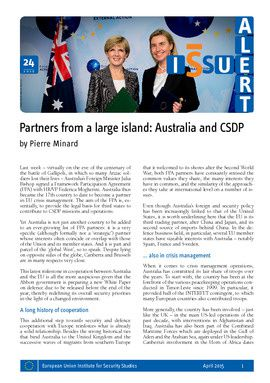 Partners from a large island: Australia and CSDP