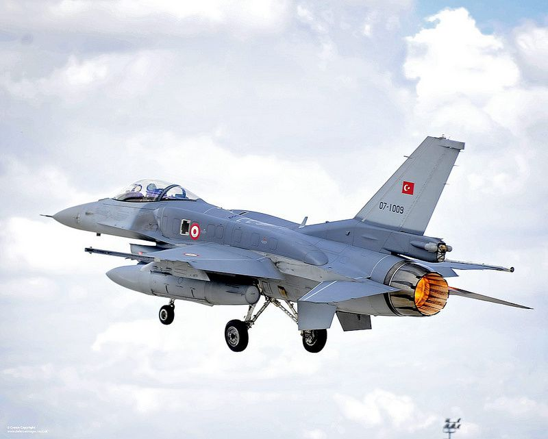 Turkish Air Force F-16 Fighting Falcon - photo UK MoD