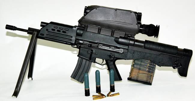 K11 dual-caliber air-burst weapon