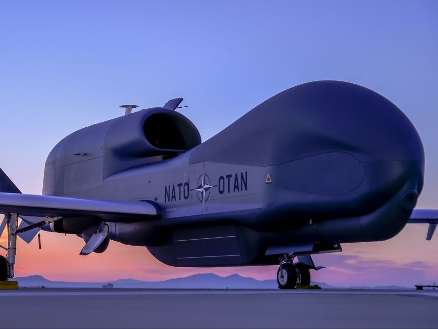 L'OTAN a commandé cinq Global Hawk. photo Northrop Grumman