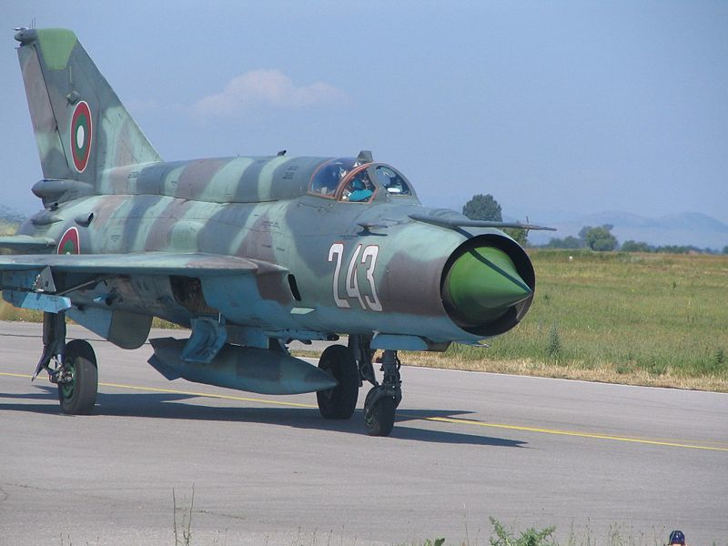 MiG-21 Bulgarian Air Force photo US DoD