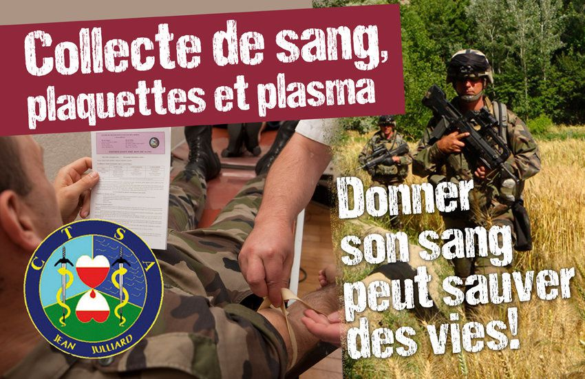 29 juin : don du sang aux Invalides -Paris