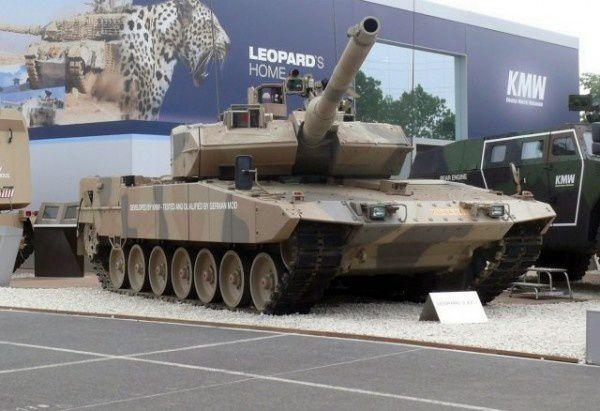 Le Leopard 2A7 présenté à Eurosatory 2010