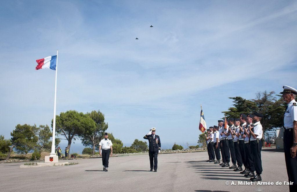 Cérémonie sur l'élément air rattaché de Narbonne - photo Armée de l'air