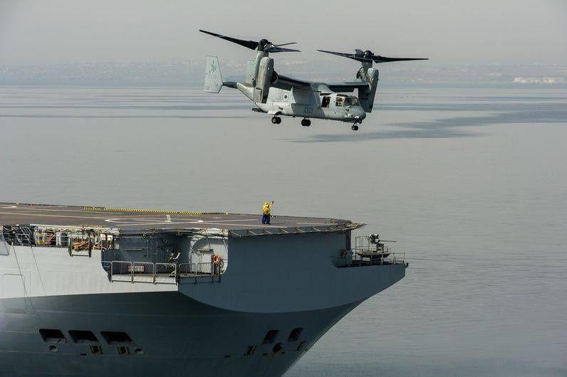 L'actu de la MARINE NATIONALE, de notre défense et de nos alliés - Page 2 Ob_35f9fa_v-22-decollage-du-pont-d-envol-du-b