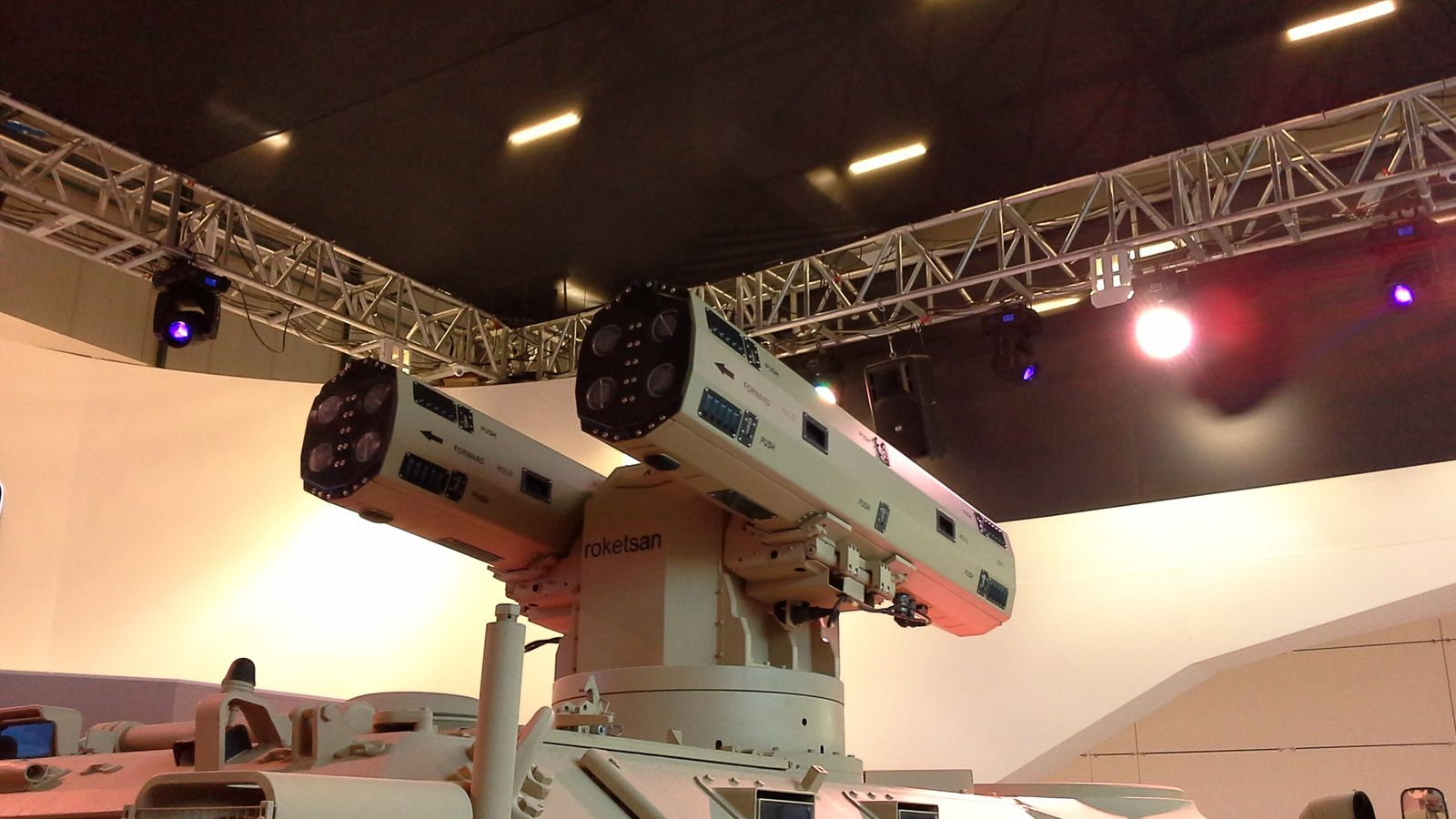 Cirit guided rocked system, here mounted on KMC remote weapon system (photo Victor M.S. Barreira)