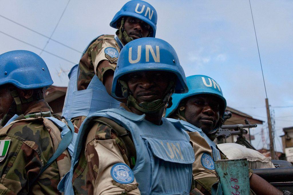 Des Casques bleus de la Mission des Nations Unies au Libéria (MINUL). Photo MINUL Staton hiver